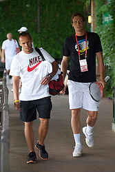 LONDON, ENGLAND - Saturday, July 3rd, 2010: Tomas Berdych (CZE) arrives to practice ahead of his Men's Singles Final on day twelve of the Wimbledon Lawn Tennis Championships at the All England Lawn Tennis and Croquet Club. (Pic by David Rawcliffe/Propaganda)