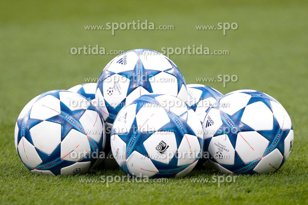 26.08.2015, BayArena, Leverkusen, GER, UEFA CL, Bayer 04 Leverkusen vs Lazio Rom, Playoff, R&uuml;ckspiel, im Bild Themenbild: Champions League, Baelle, Ball, Fussball // during UEFA Champions League Playoff 2nd Leg match between Bayer 04 Leverkusen and SS Lazio at the BayArena in Leverkusen, Germany on 2015/08/26. EXPA Pictures &copy; 2015, PhotoCredit: EXPA/ Eibner-Pressefoto/ Deutzmann<br /> <br /> *****ATTENTION - OUT of GER*****