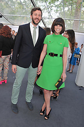 DAWN PORTER and CHRIS O'DOWD at the Glamour Women of the Year Awards 2012 in association with Pandora held in Berkeley Square Gardens, London W1 on 29th May 2012.