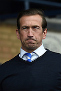 Gillingham manager Justin Edinburgh during the Sky Bet League 1 match between Southend United and Gillingham at Roots Hall, Southend, England on 19 March 2016. Photo by Martin Cole.