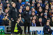 Graham Potter, Head Coach of Brighton & Hove Albion FC & Billy Reid, Assistant Manager of Brighton & Hove Albion FC during the Premier League match between Brighton and Hove Albion and Aston Villa at the American Express Community Stadium, Brighton and Hove, England on 18 January 2020.