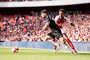 Sevilla defender Sergio Escudero (18), Arsenal Joe Willock (69) during the Emirates Cup 2017 match between Arsenal and Sevilla at the Emirates Stadium, London, England on 30 July 2017. Photo by Sebastian Frej.