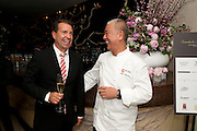 RICHIE NOTAR; NOBU MATSUHISA;, The Tomodachi ( Friends) Charity Dinner hosted by Chef Nobu Matsuhisa in aid of the Unicef  Japanese Tsunami Appeal. Nobu Berkeley St. London. 5 May 2011. <br /> <br />  , -DO NOT ARCHIVE-© Copyright Photograph by Dafydd Jones. 248 Clapham Rd. London SW9 0PZ. Tel 0207 820 0771. www.dafjones.com.
