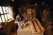 The potter's workshop of Armando Torrado, in Navarette, La Rioja, Spain.