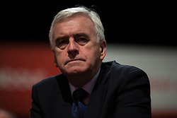 © Licensed to London News Pictures . 30/09/2015 . Brighton , UK . JOHN MCDONNELL sits in the audience at the conference . The 2015 Labour Party Conference . Photo credit : Joel Goodman/LNP