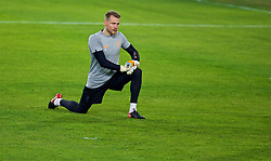 SEVILLE, SPAIN - Monday, November 20, 2017: Liverpool's goalkeeper Simon Mignolet during a training session ahead of the UEFA Champions League Group E match between Sevilla FC and Liverpool FC at the Estadio Ramón Sánchez Pizjuán. (Pic by David Rawcliffe/Propaganda)