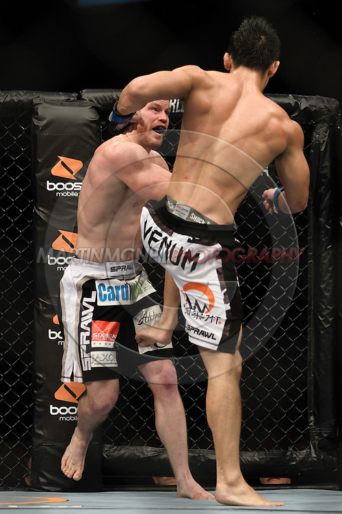 OBERHAUSEN, GERMANY, NOVEMBER 13, 2010: Yushin Okami and Nate Marquardt during UFC 122 inside the Konig Pilsner Arena in Oberhausen, Germany.
