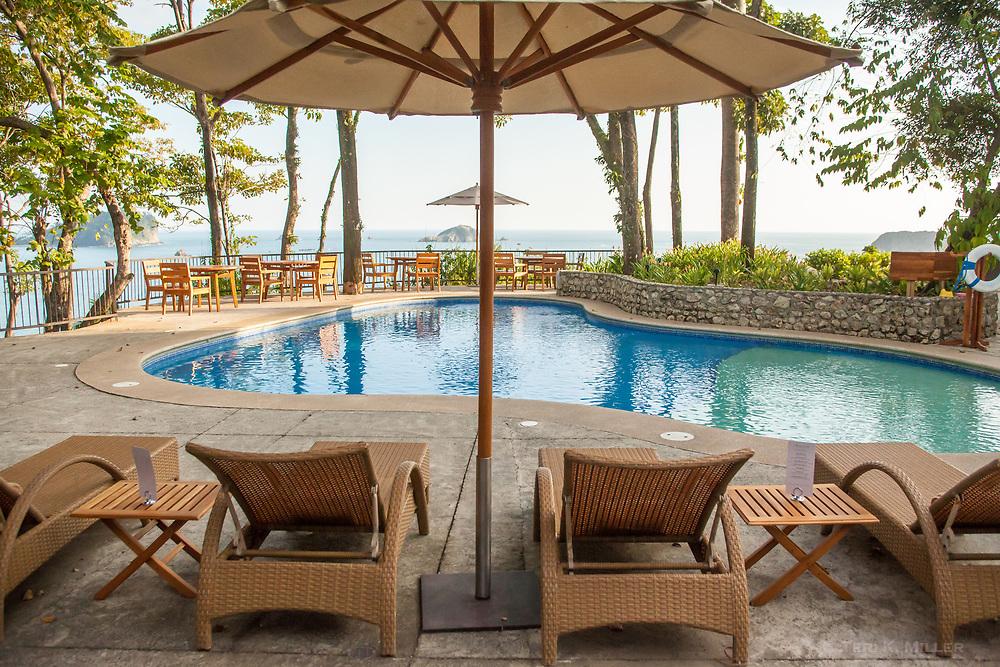 Pool view at Arenas del Mar, Manuel Antonio, Costa Rica.