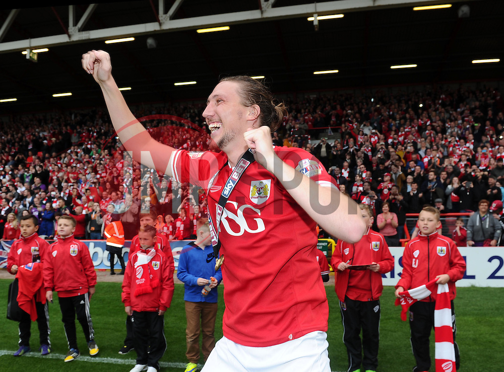 Bristol City's Luke Ayling celebrates - Photo mandatory by-line: Joe Meredith/JMP - Mobile: 07966 386802 - 03/05/2015 - SPORT - Football - Bristol - Ashton Gate - Bristol City v Walsall - Sky Bet League One