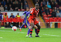 Isaiah Osbourne of Walsall's shot is blocked by Kevin Foley of Charlton Athletic - Mandatory by-line: Nizaam Jones/JMP - 20/08/2016 - FOOTBALL - Banks Stadium - Walsall, England- Walsall v Charlton Athletic  - Sky Bet League One