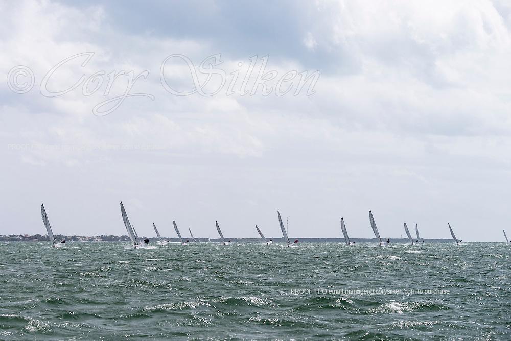 Melges 20 Class sailing in Bacardi Miami Sailing Week, day five.