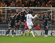 Virgil van Dijk curls home a lovely free kick to put Celtic 2-0 ahead  - Dundee v Celtic - SPFL Premiership at Dens Park<br /> <br /> <br />  - &copy; David Young - www.davidyoungphoto.co.uk - email: davidyoungphoto@gmail.com