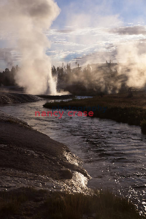 Black Sands Geyser Basin in Yellowstone National Park, Wyoming.