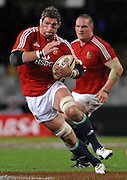Simon Shaw of the Lions on the charge.<br /> Rugby - 090610 - British&Irish Lions v Sharks - ABSA Stadium - Durban - South Africa. The Lions won 37 -3.<br /> Photographer : Anton de Villiers / SASPA