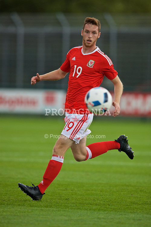 NEWPORT, WALES - Tuesday, September 6, 2016: Wales' Ryan Harrington in action against Iceland during the International Friendly match at Dragon Park. (Pic by David Rawcliffe/Propaganda)