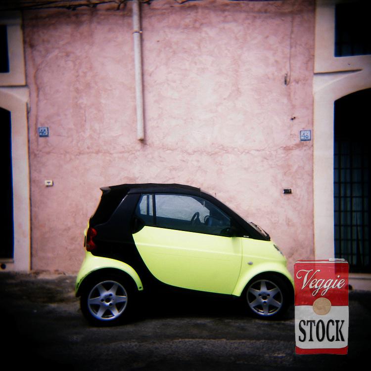A Smart car, Syracusa, Sicily, Italy, September 2008.