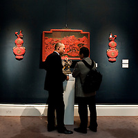 London November 2 1030 LONDON: Checking precious items during a preview at Sotheby's of forthcoming sale of Fine Chinese Ceramics and Works of Art. one of the highlights include an Imperial Khotan-Green Jade Seal, Qing Dynasty, Qianlong Period, estimated at £400,000-600,000. ...***Agreed Fee's Apply To All Image Use***.Marco Secchi /Xianpix. tel +44 (0) 771 7298571. e-mail ms@msecchi.com .www.marcosecchi.com