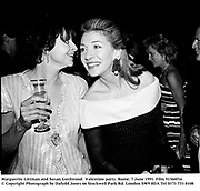 Marguerite Littman and Susan Gutfreund.  Valentino party. Rome. 7 June 1991. Film 91560f16<br />