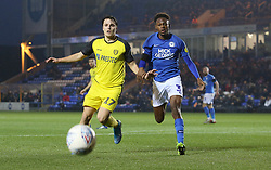 Ricky-Jade Jones of Peterborough United in action with Oliver Sarkic of Burton Albion - Mandatory by-line: Joe Dent/JMP - 23/11/2019 - FOOTBALL - Weston Homes Stadium - Peterborough, England - Peterborough United v Burton Albion - Sky Bet League One