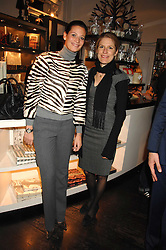 Left to right, JULIA BAUMHOFF and CAROLINE VON KROCKOW at a party hosted by Allegra Hicks to launch Lapo Elkann's fashion range in London held at Allegra Hicks, 28 Cadogan Place, London on 14th November 2007.<br />