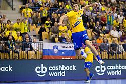 Branko Vujovic of RK Celje Pivovarna Lasko during handball match between RK Celje Pivovarna Lasko and PGE Vive Kielce in Group Phase A+B of VELUX EHF Champions League, on September 30, 2017 in Arena Zlatorog, Celje, Slovenia. Photo by Urban Urbanc / Sportida