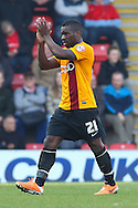 Aaron McLean of Bradford City leaves the pitch as he is substituted during the Sky Bet League 1 match at the Matchroom Stadium, London<br /> Picture by David Horn/Focus Images Ltd +44 7545 970036<br /> 29/03/2014