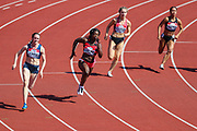 Heat 3 of the Women's 200m during the Muller British Athletics Championships at Alexander Stadium, Birmingham, United Kingdom on 25 August 2019.
