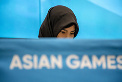 August 18, 2018 - Jakarta, Jakarta, Indonesia - Jakarta, Indonesia, 18 August 2018 : Japan Committee YASUHIRO YAMASHITA give press conference during his visit at Indonesia to see Asian Games 2018 event for the preparation of Japan as the host 2020 Olympic. (Credit Image: © Donal Husni via ZUMA Wire)