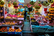 Fruit shop at Wan Chai Road, Hong Kong, China.