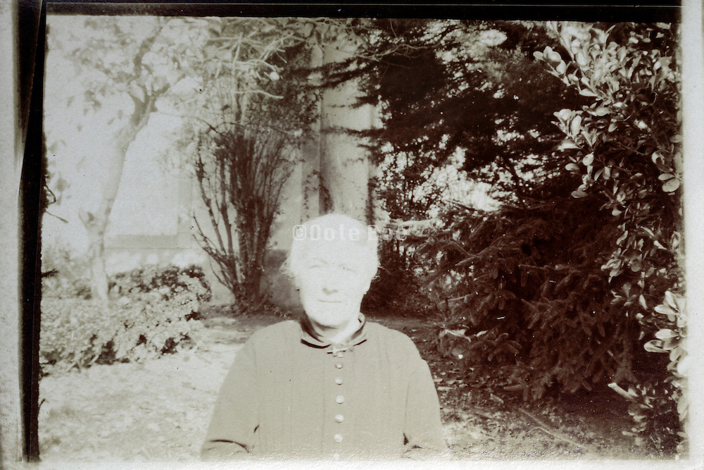 fading image of a elderly woman France