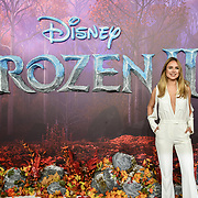 Kimberley Garner attend European Premiere of Frozen 2 on 17 November 2019, BFI Southbank, London, UK.