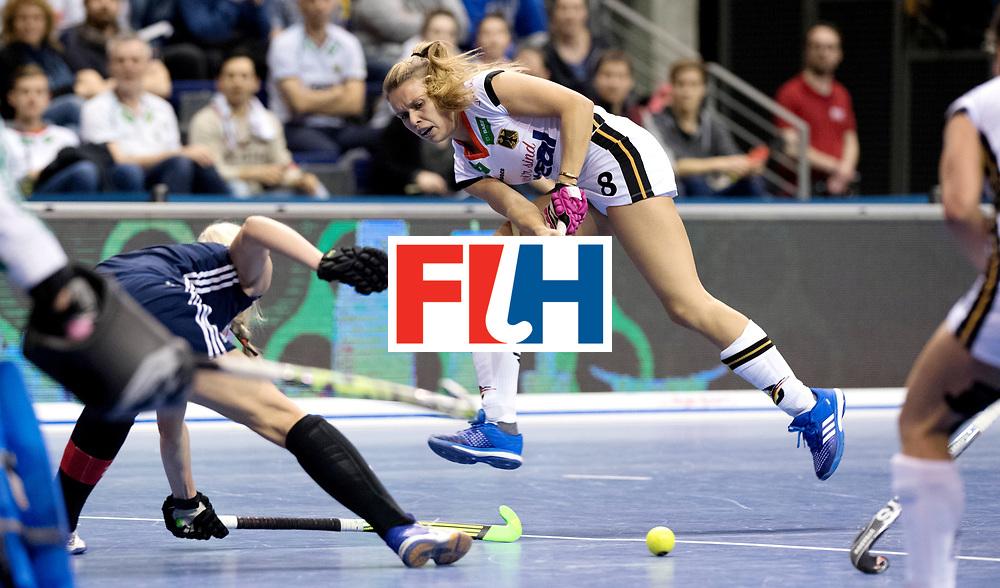 BERLIN - Indoor Hockey World Cup<br /> Semi-final: Belarus - Germany<br /> foto: Anne Schroeder.<br /> WORLDSPORTPICS COPYRIGHT FRANK UIJLENBROEK