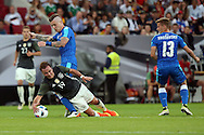 Mario Goetze of Germany and Juraj Kucka of Slovakia during the International Friendly match at WWK Arena, Augsburg<br /> Picture by EXPA Pictures/Focus Images Ltd 07814482222<br /> 27/05/2016<br /> ***UK &amp; IRELAND ONLY***<br /> EXPA-EIB-160529-0144.jpg