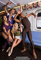 New York City Subway Dance As Art Photography featuring dancers Sylvana Tapia, Andy Jacobs, Mykaila Symes and Julian Watson
