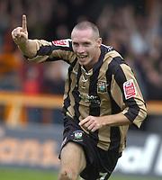 Photo: Matt Bright.<br /> Barnet v Mansfield Town. Coca Cola League 2. 13/10/2007.<br /> Liam Hatch of Barnet celebrates scoring
