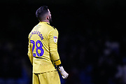 Wycombe Wanderers goalkeeper Stephen Henderson (28), Sky Bet / EFL logo on sleeve, during the EFL Sky Bet League 1 match between Gillingham and Wycombe Wanderers at the MEMS Priestfield Stadium, Gillingham, England on 15 December 2018.