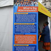 London, England, UK. 27 April 2019. Vaisakhi Festival is a Sikh New Year in Trafalgar Square, London, UK.
