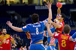 Alberto Entrerrios of Spain during handball match between Croatia and Spain for 3rd place game at 10th EHF European Handball Championship Serbia 2012, on January 29, 2012 in Beogradska Arena, Belgrade, Serbia.  (Photo By Vid Ponikvar / Sportida.com)