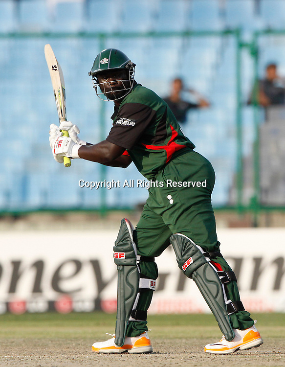 07.03.2011 Cricket World Cup from the Feroz Shah Kotla stadium in Delhi. Canada v Kenya. Thomas Odoyo plays a shot during the match of the ICC Cricket World Cup between Canada and Kenya.