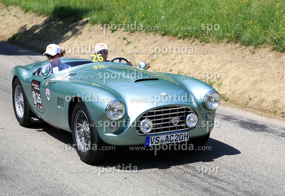 18.07.2015, Gröbming, Goebming, AUT, Ennstal Classic 2015, im Bild Dieter Quester mit Lebensgefährtin. // during the Ennstal Classic 2015 in Gröbming in Goebming, Austria on 2015/07/18. EXPA Pictures © 2015, PhotoCredit: EXPA/ Martin Huber