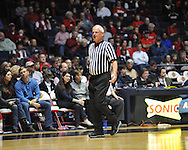 "Referee Bruce Benedict at the C.M. ""Tad"" Smith Coliseum in Oxford, Miss. on Saturday, February 25, 2012."