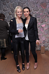 Left to right, JULIE MONTAGU and TANA RAMSAY at a party to celebrate the announcement of the 20 shortlisted designers for the UK final of the Triumph Inspiration Award 2011 held at the home of Charlotte Stockdale, 8 Francis Street, London SW1 on 31st March 2011.