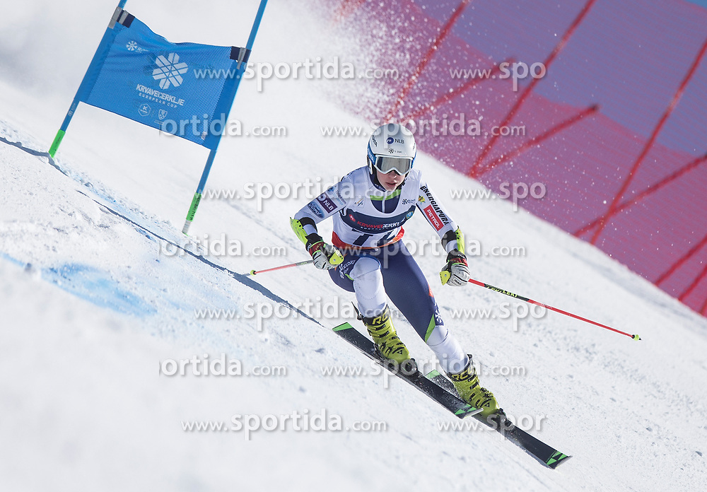 Jera Kompan from Slovenia during the giant slalom for European Cup on 27.2.2020 on Krvavec, Cerklje na Gorenjskem, Slovenia. Photo by Urban Meglič / Sportida