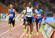 Nijel Amos (BOT) wins the 800m in1:44.53 during the 42nd Memorial Van Damme in an IAAF Diamond League meet at King Baudouin Stadium in Brussels, Belgium on Friday, September 1, 2017. (Jiro Mochizuki/Image of Sport)