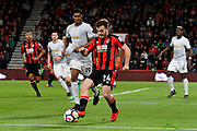 Ryan Fraser (24) of AFC Bournemouth during the Premier League match between Bournemouth and Manchester United at the Vitality Stadium, Bournemouth, England on 18 April 2018. Picture by Graham Hunt.