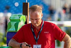 TEBBEL Rene<br /> Tryon - FEI World Equestrian Games™ 2018<br /> Parcoursbesichtigung<br /> Springen Zeitspringprüfung Teamwertung Einzelwertung 1. Runde<br /> September 2018<br /> © www.sportfotos-lafrentz.de/Stefan Lafrentz