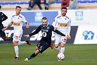 Fotball , 20. februar 2017 , Privatkamp<br /> Sandefjord - Kristiansund<br /> Thomas Kind Mikalsen , Sandefjord<br /> Pau Morer , Sandefjord<br /> Kamer Quaka , KBK