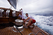 J-class Ranger at the Antigua Classic Yacht Regatta