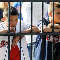 CLEVELAND, OH USA - JULY 6: Fans wait to enter the field before the game between the Cleveland Indians and the New York Yankees at Progressive Field in Cleveland, OH, USA on Wednesday, July 6, 2011.