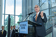 Republic Bank Chairman and CEO Steve Trager at the 10-year anniversary celebration of Republic Bank's Private Banking and Business Banking divisions Wednesday, May 17, 2017, at the Speed Art Museum in Louisville, Ky. (Photo by Brian Bohannon)